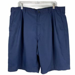 Pro Tour Golf Shorts Pleated Front Blue Size 40